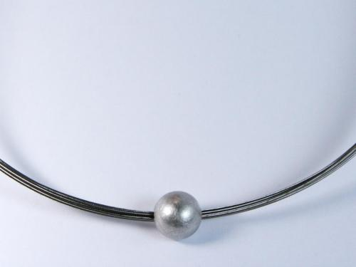 Schwarze Perle Kette