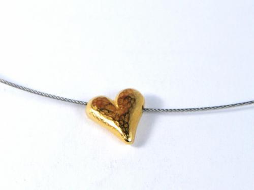 Herz gelbgold Kette
